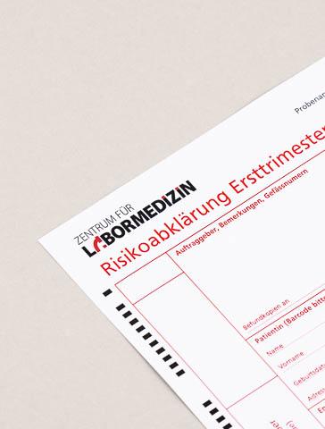 Formular: Risikoabklärung Ersttrimester-Test / Präeklampsie